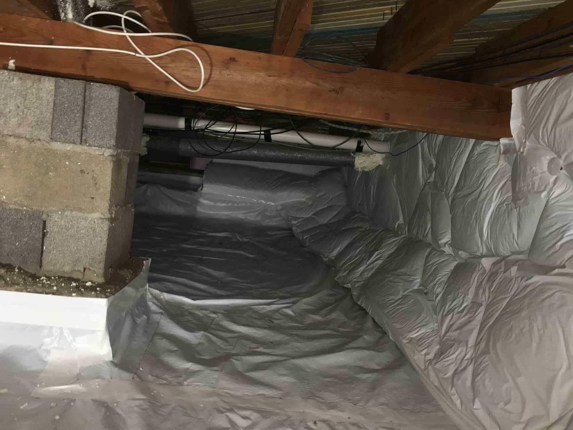 Crawl Space After Insulation in Denver